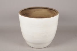 A085LE Planter ceramic white D46cm H41cm