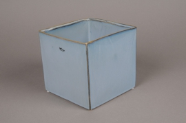 B414WV Blue ceramic planter 17cm x 17cm H15cm