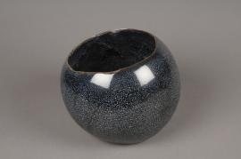 A305HX Blue ceramic planter D18cm H15cm