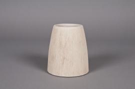 Cache-pot en céramique brun H13cm