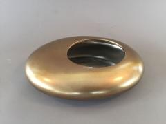 X092YX Cache-pot en céramique galet or 23 x 18cm H6cm