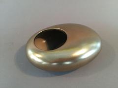 A091YX Cache-pot en céramique galet or 13.5 x 11cm H5cm