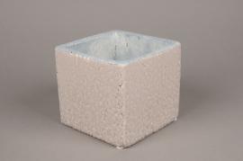A491QB Grey ceramic planter 15cm x 15cm H13cm
