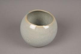 A308HX Grey ceramic planter D18cm H15cm