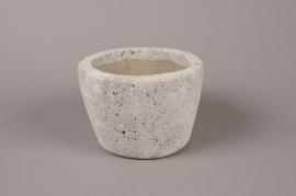 A621UO Cache-pot en céramique grise D18cm H12cm