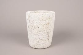 A620UO Cache-pot en céramique grise D18cm H22cm