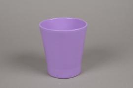 A062PP Cache-pot en céramique lilas D13cm H14cm