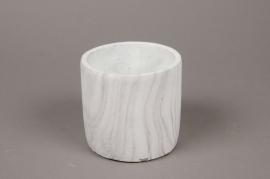 A071TN Cache-pot en céramique marbre D10cm H10cm