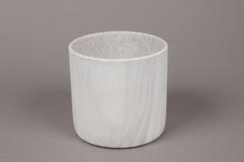 A070TN Cache-pot en céramique marbre D13.5cm H12.5cm
