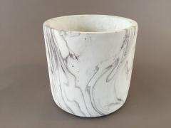 A069TN Cache-pot en céramique marbre D17cm H16cm