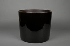 A159QS Cache-pot en céramique noir D35 H35cm