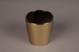 A001W1 Gold ceramic planter D11cm H11.5cm
