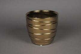 A121UD Cache-pot en céramique or D14cm H13.5cm
