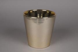A108VU Cache-pot en céramique or D16cm H16cm