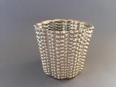 A122LE Cache-pot en céramique or D17cm H17cm