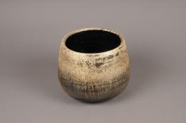 A316HX Gold ceramic planter D20cm H18cm