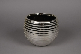 A136UD Cache-pot en céramique or perlé D15cm H14cm