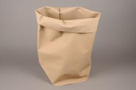 A012K1 Cache-pot en cuir marron 20cm x 30cm H60cm