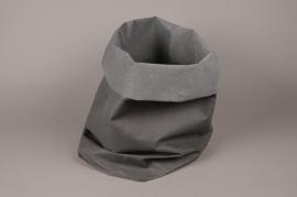 A015K1 Cache-pot en cuir noir 26cm x 44cm H87cm