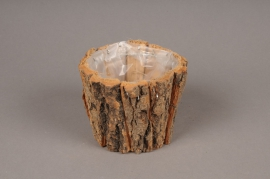 A224U7 Cache-pot en écorce de bois D12cm H10cm