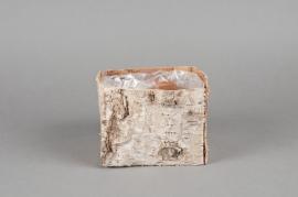 Cache-pot en écorce naturelle 11x11x9cm