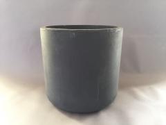 A001XY Cache-pot en fibre gris D42cm H41cm