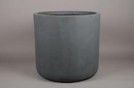 a002xy Cache-pot en fibre gris D51cm H49cm