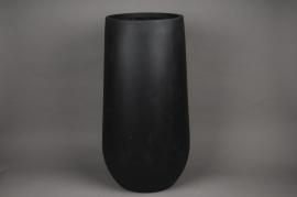 A159LC Cache-pot en fibre noir D34cm H70cm