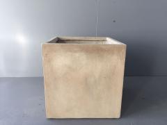 A035XY Cache-pot en fibre sable carré L50cm H50cm