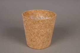A003HJ Cache-pot en liège D15cm H15cm