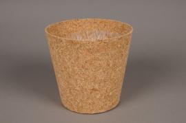 A004HJ Cache-pot en liège D17.5cm H16.5cm