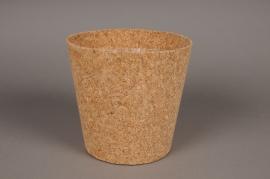 A005HJ Cache-pot en liège D20.5cm H19.5cm