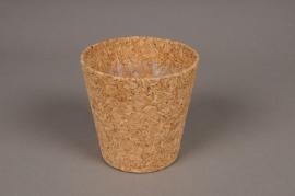 A000HJ Cache-pot en liège D9.5cm H9cm