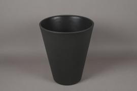 A111H7 Cache-Pot en plastique rotomoulé gris D40cm H49cm