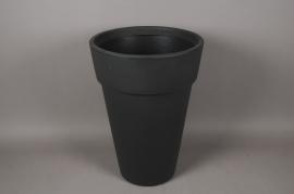 A112H7 Cache-Pot en plastique rotomoulé gris D45cm H65cm