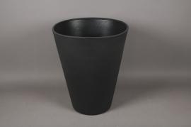 A109H7 Cache-Pot en plastique rotomoulé gris D50cm H60cm