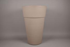 A114H7 Rotomolded grey Plastic pot D40cm H62cm