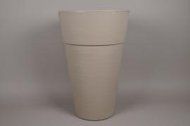 A116H7 Rotomolded grey Plastic pot D50cm H77cm