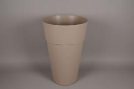A118H7 Cache-Pot en plastique taupe D40cm H62cm