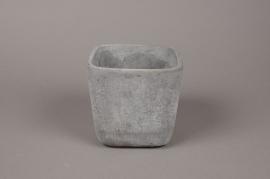 A077TN Cache-pot en terre cuite béton 13.5 x 13.5cm H13cm