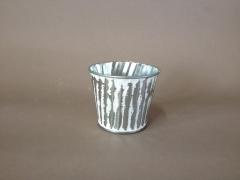 A307KM Cache-pot en zinc blanchi D6cm H5,5cm