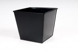 Cache-pot en zinc noir 15x15 H13cm