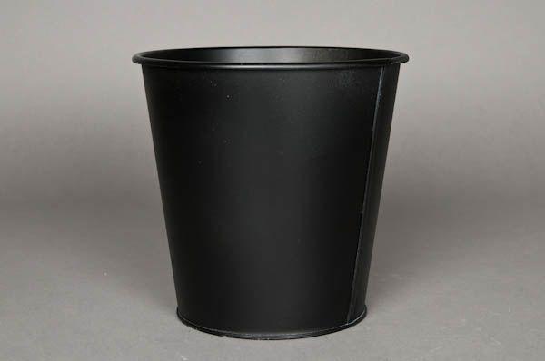Cache pot metal noir