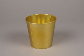 A362KM Gold zinc planter D11cm H10.5cm