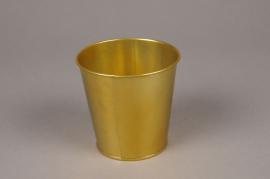 A363KM Gold zinc planter D13.5cm H12cm