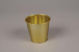 A361KM Gold zinc planter D8.5cm H8cm