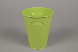 A337KM Cache-pot en zinc vert D13cm H15cm
