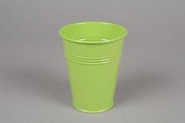 MU16KM Cache-pot en zinc vert D8.5cm H10cm