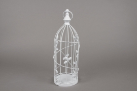 A021AV Cage à oiseau en métal blanc D13cm H38cm