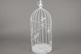 A020AV Cage à oiseau en métal blanc D20cm H49cm